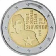 2 EURO 2011 * Franc Rozman * National Hero * UNC - Slovenia