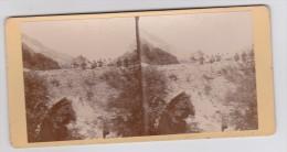 Environs De Lauzet - Pont Romain Sur L´Ubaye En 1911 - Militaires - Carte Stéréo Sur Carton Rigide - Non Classés