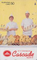 Télécarte Japon - PAIN - Série Boulangerie CASCADE / GEORG SIMON - BREAD Japan Phonecard - 48 - Food