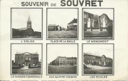 Souvret - Souvenir De ... -  Carte 6 Vues - 1952 ( Voir Verso ) - Courcelles