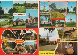 8 POSTCARDS:  TWENTE  (HOLLAND)  -  USED & UNUSED / ON- & GELOPEN ANSICHTEN ( Nederland) - 3 Scans - Postkaarten