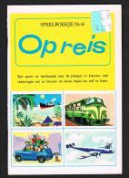 SPEELBOEKJE  N° 16  OP REIS  MET DE 16  PLAATJES  1962 - Juniors