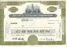 Rockwell Standard Corporation Usa - Aandelen
