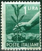 ITALIA, ITALY, ITALIE, REPUBBLICA, SERIE DEMOCRATICA, 1945, FRANCOBOLLO USATO, Scott 468, YT 488, Un 550 - 6. 1946-.. Repubblica