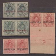 ES292-L2117TSC.VARIEDAD B.H.España.Spain.Espagne. Aereo.ALFONSO   Xlll.Pelon.1920..(Ed 292/6**/* Par) S/d,. - Sellos