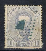 Sello 10 Ct AMADEO, Matasellos Azul, Num 121 º - 1872-73 Reino: Amadeo I