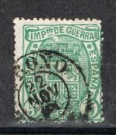 Sello 5 Cts Impuesto Guerra 1875, Fechador LOGROÑO, Num 154 º - Impuestos De Guerra