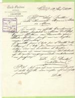 1899-FATTURA COMMERCIALE-PONTE A MORIANO (LUCCA)-CARLO PARDINI -IMPRESA PER L'ILLUMUNAZIONE A GAS ACETILENE - Italia