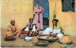 Cpa 1916 Superbe Carte Sur La Préparation Du Couscous 4 Belles Femmes, Kanoun, Plats En Bois (20.35) - Angola