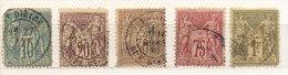 Año 1876-1921 Yvert Varios Lote 13 Sellos - Used Stamps