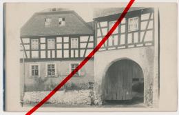 PostCard - Original Foto - Zoppoten - Ca. 1913 - Fachwerkhäuser - Hofeinfahrt Bauerngut - Ebersdorf