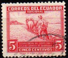 ECUADOR 1940 Obligatory Tax - 5c Ploughing  FU - Ecuador
