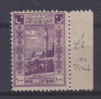 ANT - TURCHIA 1921, Unità Il 100 Pi N. 651  ***  MNH. Moschea Urfa - Nuevos