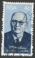South Africa. 1974 Birth Centenary Of Dr DF Malan. 4c Used - South Africa (1961-...)