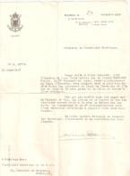 1921 - Citation Pour L'octroi De La Croix De Chevalier De L'Ordre De Léopold II Avec Palme Et La Croix De Guerre - Collections