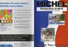 MICHEL Briefmarken Rundschau 6/2013 Neu 5€ New Stamps Of The World Catalogue Magacine Of Germany ISBN 4 194371 105009 - Allemand