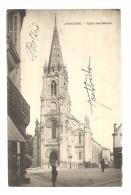 Cp, 16, Angoulême, Eglise Saint-Martial, écrite - Angouleme