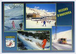 Andorre----PAS DE LA CASE--Vues Diverses -Multivues,blason,ski,chiens Traineau ,cpm N° 1096 éd APA-ANDORRA - Andorra