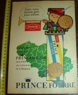 PUB PUBLICITE PAREIN  PUBLIART PRINCE FOURRE CARTE PUZZLE OFFERT ANTWERP ! TRES BEAU ! - Collections