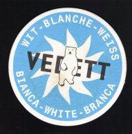 SB Sous Bock Beermat VEDETT Blanche Ours BELGIQUE - Sous-bocks