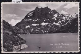 Lac De Barberine : En Barque Vers Les Perrons ; Ca 1946 ; Cachet De La CAbane Restaurant (12´210) - VS Wallis