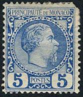 Monaco #3 Mint Hinged 5c Prince Charles III From 1885 - Monaco