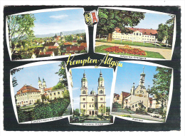 KEMPTEN ALLGÄU, Bayern: Mehrseite;Hofgarten Orangerie,Rathaus,Zumstein-Haus, St. Lorenz Kirche; Cachet Festwoche, 1967, - Kempten