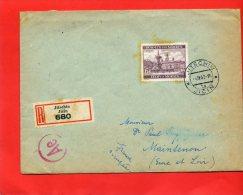 BOHEME ET MORAVIE 4 AVRIL 1942 LETTRE RECOMMANDEE DE JITSCHIN JICIN A MAINTENON EURE ET LOIR FRANCE - Bohême & Moravie