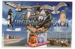 CPM - USA - VIRGINIA BEACH - MULTIVUES - PHARES - MOUETTES - VOITURE FLORALIES - Coul - Ann 2000 - - Virginia Beach