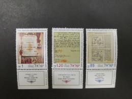 ISRAEL 1992 NEW YEAR FESTIVALS MINT TAB  STAMPS - Israel