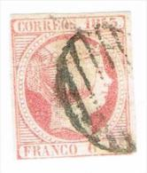 Ed. 17 Isabel II 1853 6 Cts. Usado - 1850-68 Royaume: Isabelle II