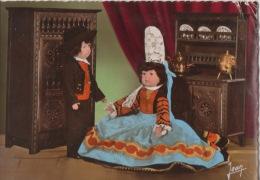CPA 1455 CPM Poupées Bretonnes En Costumes Région De Pont L'Abbé Poupée Bretagne Costume Folklore Plantade Plozévet - Costumes
