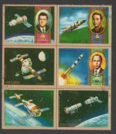 United Arab Emirates,Umm Al-Qiwain,Astronauts,Sheet, 6stamps,1 Set,Cancelled. - Umm Al-Qiwain