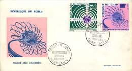 1963  Télécommunications Spatiales  FDC - Chad (1960-...)