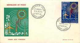 1963  Union Africaine Et Malgache Des Postes Et Télécommunications FDC - Chad (1960-...)