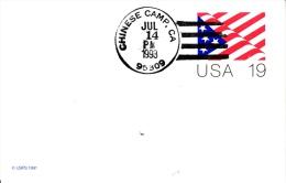 U.S.  MODERN  POSTAL  HISTORY  CHINESE  CAMP - United States