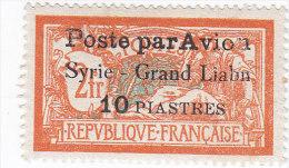 "Lebanon ( -Grand Liban) Air Mail 10 Pi.Error ""LIABN"" Light Clean Hinged,signed Brun Vero,only 30 Exist- Extr.RARE Skrill - Great Lebanon (1924-1945)"