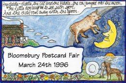 BLOOMSBURY POSTCARD FAIR 1996 FABLE DESIGNED BY THOMAS PLUNKETT - Bourses & Salons De Collections
