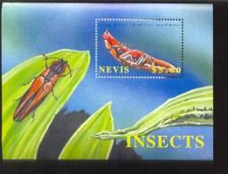 NEVIS  1295 MINT NEVER HINGED SOUVENIR SHEET OF BUTTERFLIES - Butterflies