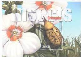 GRENADA   3300 MINT NEVER HINGED SOUVENIR SHEET OF BUTTERFLIES ; FLOWERS - Butterflies