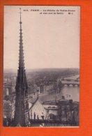 1 Cpa Paris La Fleche De Notre Dame Et Vue Sur La Seine - Notre Dame De Paris