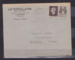 FRANCE LETTRE AVEC N° 697 70C MARIANNE DE LONDRES + 10C CHAINES CACHET DU 28.8.1945 - Covers & Documents