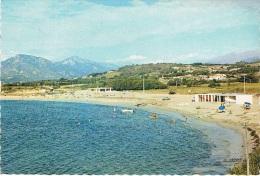 PORTICCIO (Corse) - La Plage Et La Résidence Du Golfe - Animation Avec De Rares Baigneurs ! - Circulée En 1968, 2 Scans - Autres Communes