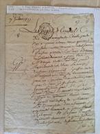 Lettre De Sieur REDON D AURIOL ...Memoiselle DEMAISONNEUVE Et Le Sieur DUPRE (PARIS) - Manuscripts