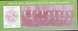 LITUANIE 1998 50 ANS PROCLAMATION INDEPENDANCE BLOC 13 MNH - Lituanie
