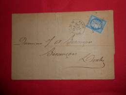 Lot Du 14-06-13_10_lettre De Paris Etoile 1,A ETUDIER. - 1849-1876: Période Classique