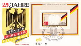 Duitsland - FDC 15-5-1974 - Blockausgabe: 25 Jahre Bundesrepublik Deutschland - Michel Block 10 - FDC: Sobres
