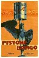 Automobilismo Anni 60 Dal Manifesto In Cartolina - Pistoni Borgo Torino - Advertising