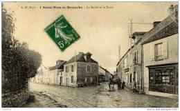 78 SAINT-NOM-LA-BRETECHE - La Mairie Et La Poste - Animée - St. Nom La Breteche