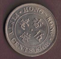 HONG KONG 50 CENTS 1968 - Hong Kong